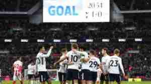 Premier League! Harry Kane Scores Twice As Tottenham Destroy Stoke City 5-1 At Wembley